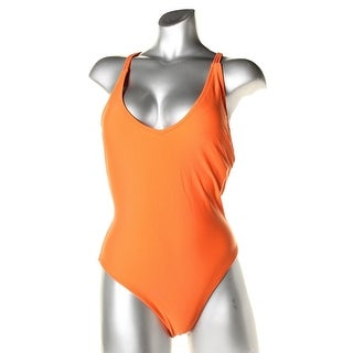 Volcom Womens Solid Racerback One-Piece Swimsuit - M