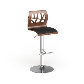 Link to Carson Carrington Sala Mid-Century Modern Walnut Wood Adjustable Barstool - N/A Similar Items in Dining Room & Bar Furniture