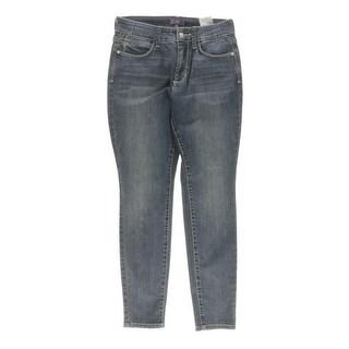 NYDJ Womens Petites Skinny Jeans Medium Wash Slimming Fit