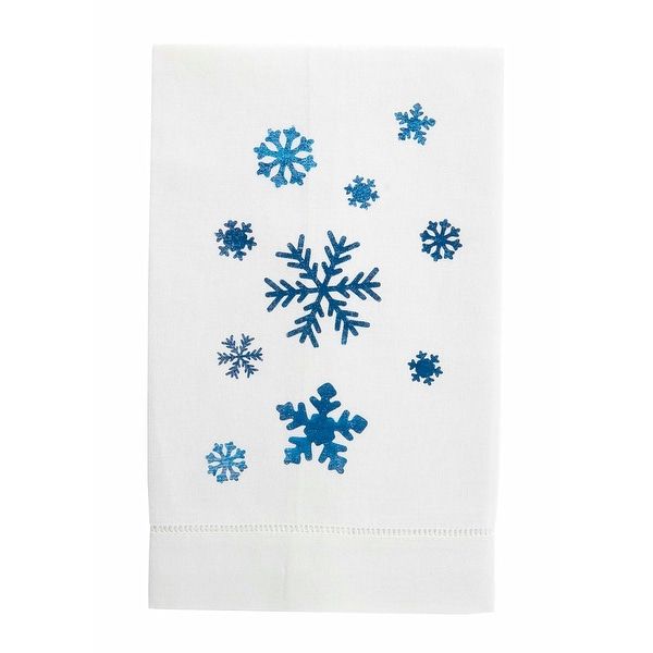 Festive Foil Christmas Linen Tea Towel