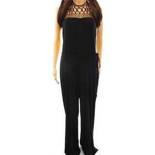 Lauren Ralph Lauren NEW Black Women's Size Medium M Crochet Jumpsuit