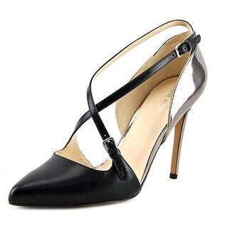 Nine West Earnest Women Pointed Toe Leather Black Heels