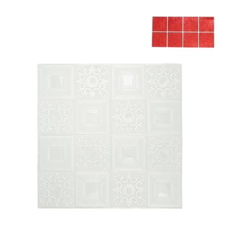 """3D Wall Panels 27""""x27"""" Foam Self-stick Wall Decoration Wall Tiles 5 Sq Ft"""