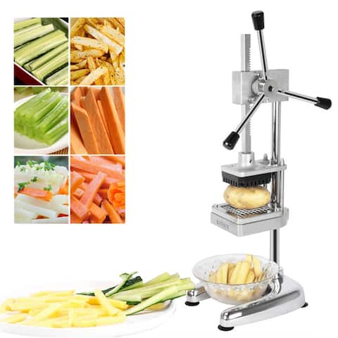 "Vertical French Fries Cutter with Three 3/8"" & 1/4"" & 1/2"" Blades"
