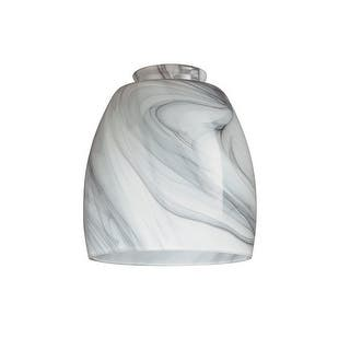 """Westinghouse 8140900 Charcoal Swirl Glass Shade, 2-1/4""""