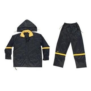 CLC R1032X 3 Piece Deluxe Nylon Rain Suit, Black, 2XL