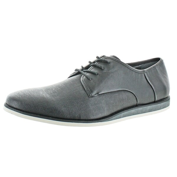 Calvin Klein Men's Kadon Jr Leather Embossed Oxfords