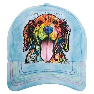 Unisex Adult Adjustable Tie Dye Animal Printed Baseball Hats - Dog