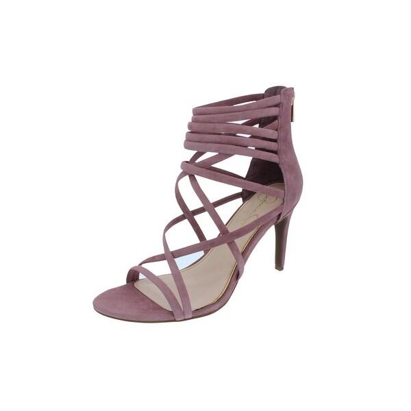 Jessica Simpson Womens Harmoni Dress Sandals Suede Strappy