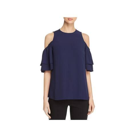 MICHAEL Michael Kors Womens Dress Top Crepe Cold Shoulder