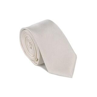 "Dolce & Gabbana Mens Ivory 100% Silk Diagonal Texture 2.45"" Blade Tie"
