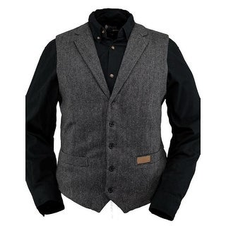 Outback Trading Vest Mens Jessie Wool Lapel Buttons Pocket Black 29785