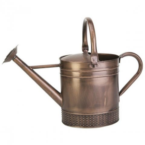 Panacea 84875 Embossed Watering Can, Brushed Copper, 2-Gallon
