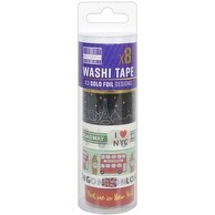 Big Cities - First Edition Washi Tape 10M Rolls 8/Pkg