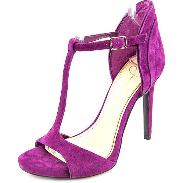 Jessica Simpson Rayanna Women Open Toe Suede Purple Sandals