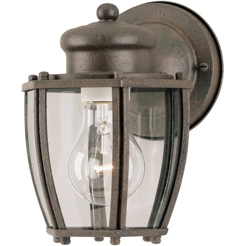 Westinghouse 64689 One Light Exterior Wall Lantern, Textured Rust Patina