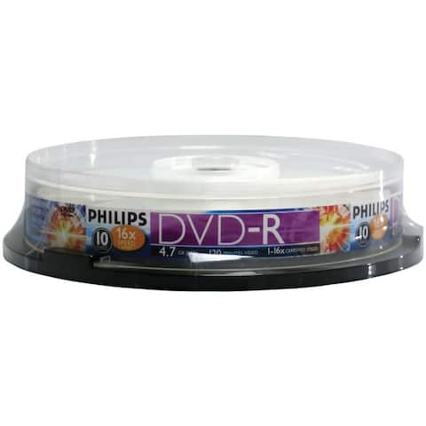 Philips 4.7 GB DVD-R 10Ct Spindle DM4S6B10F-17 4.7 GB DVD-R 10ct Spindle