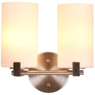 Design House 577528 Eastport Indoor Wall Mount 2-Light Fixture, Satin Nickel