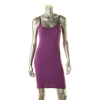 I'm in love with Derek Womens Juniors Tank Dress Ribbed Knit Adjustable Sleeves - M