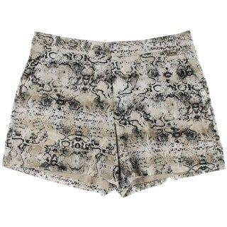 Calvin Klein Womens Snake Print Lined Casual Shorts - 12