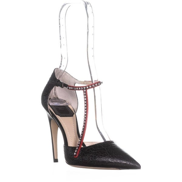 Dior T-Strass Rhinestone Buckle Pumps, Noir - 6.5 us / 36.5 eu