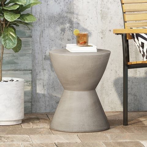 Yadira Lightweight Concrete Side Table by Christopher Knight Home