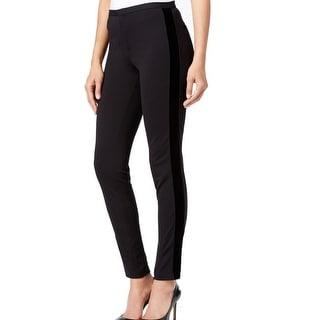 Michael Kors NEW Black Womens 16 Velvet-Stripe Ankle Skinny Dress Pants