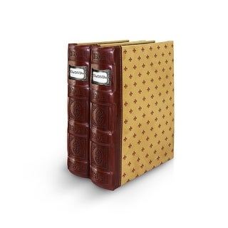 Bellagio-Italia Tuscany DVD Binder- Crimson 2-Pack