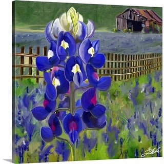 """Bluebonnet"" Canvas Wall Art"