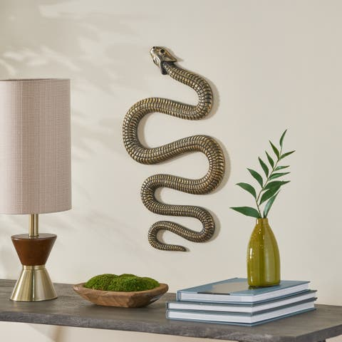 Picabo Aluminum Snake Wall Decor by Christopher Knight Home