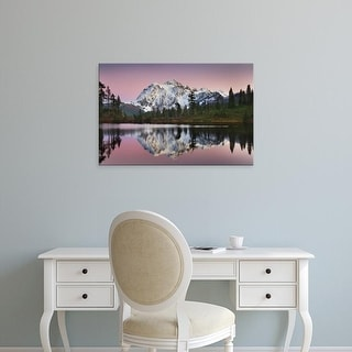 Easy Art Prints Alan Majchrowicz's 'Mount Shukan Reflection II' Premium Canvas Art