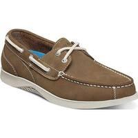 Nunn Bush Men's Bayside Lites Two Eye Boat Shoe Tan Leather