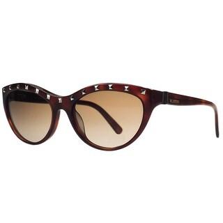 Valentino V 641/S 725 Blonde Havana Cateye Sunglasses