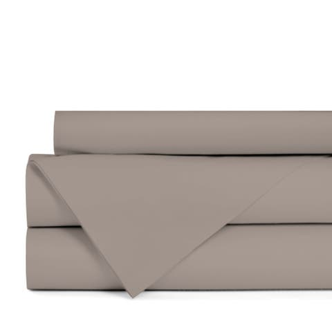 Portland Place 200TC Cotton Taupe King Solid Sheet Set