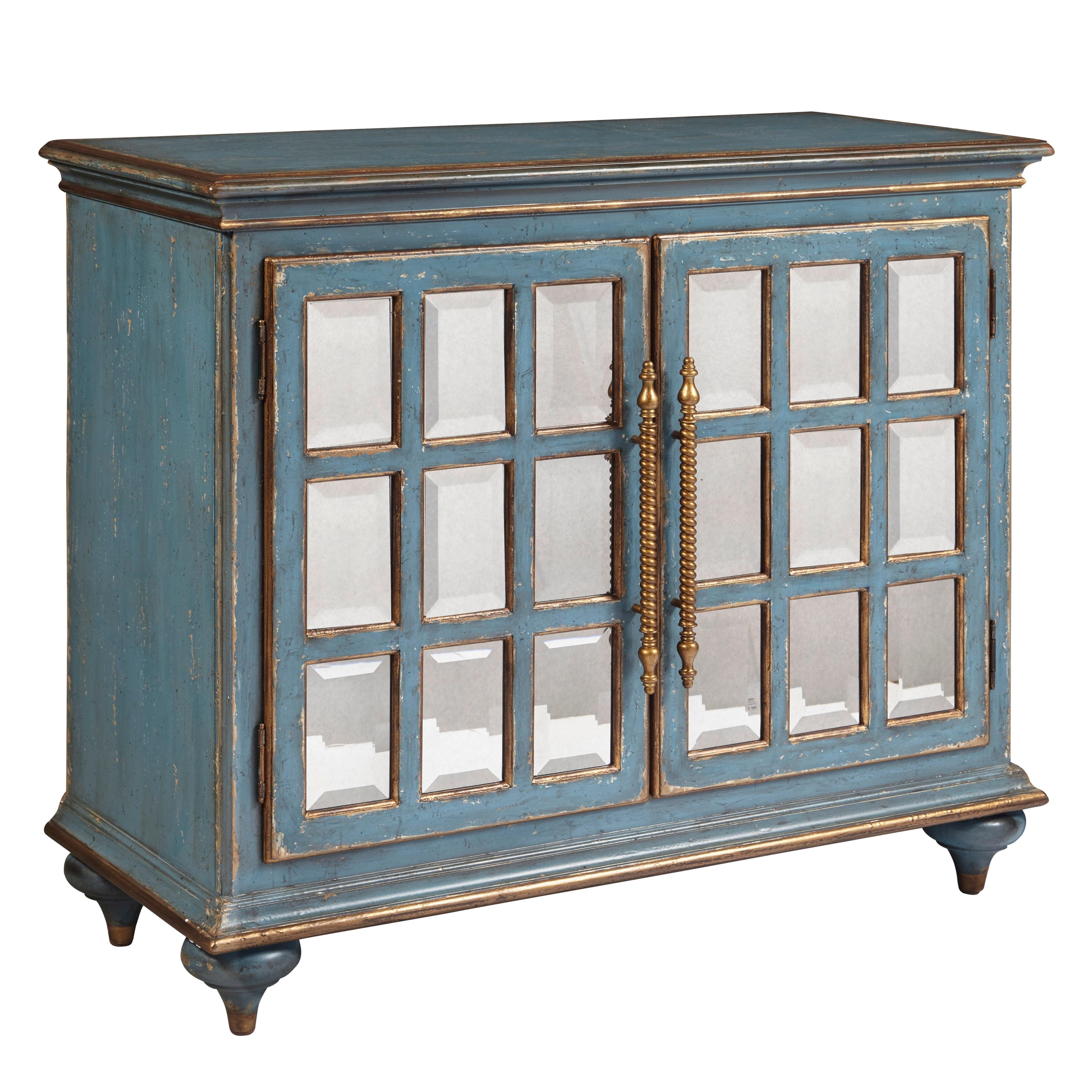 Blue Distressed 2 Door Accent Cabinet Overstock 31510697