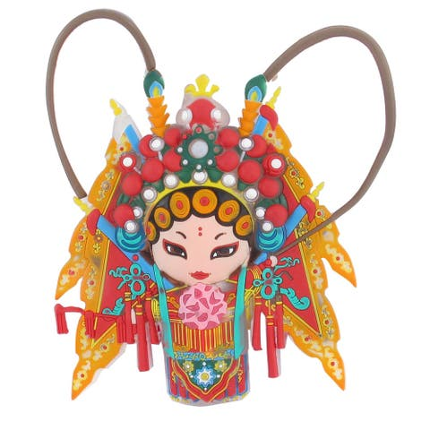 "Chinese Peking Opera Female Character Fridge Refrigerator Magnets - 12.5 x 11 x 1.5cm / 4.9"" x 4.3"" x 0.6""(L*W*H)"