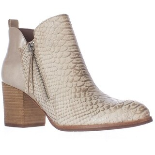 Donald J Pliner Edyn Side Zip Ankle Boots, Ivory