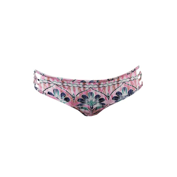 O'Neill Pink Multi Starlis Printed Strappy Cheeky Bikini Bottom XL