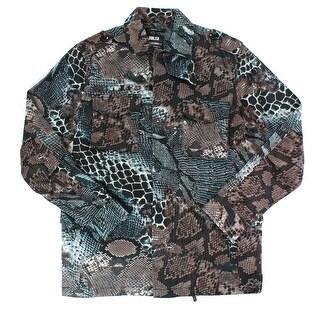Publish NEW Blue Brown Mens Size 2XL Full Zip Multi Pocket Jacket