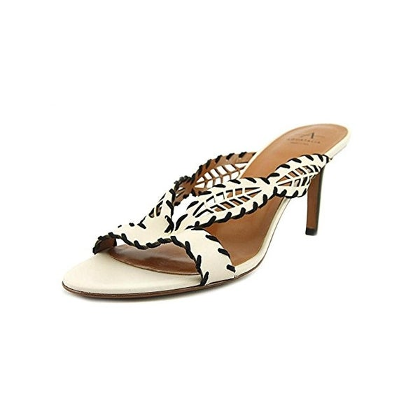 Aquatalia Womens Natia Dress Sandals Laser Cut Open Toe - 7 medium (b,m)