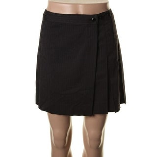 QMack Womens Shadow Stripe Pleated Flare Skirt - XS