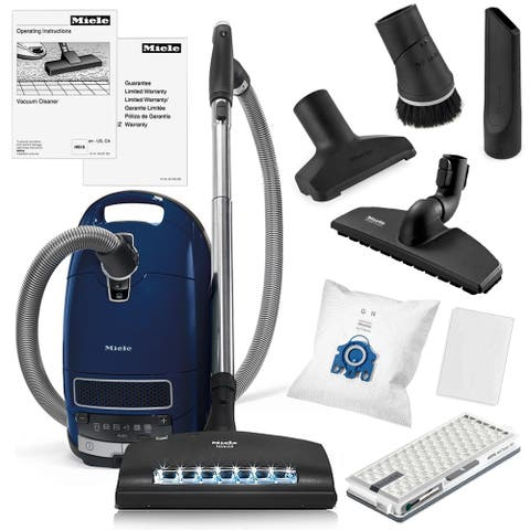 Miele Complete C3 Marin Canister Vacuum Cleaner + SEB-236 Powerhead + SBB-300 Parquet Floor Brush + More
