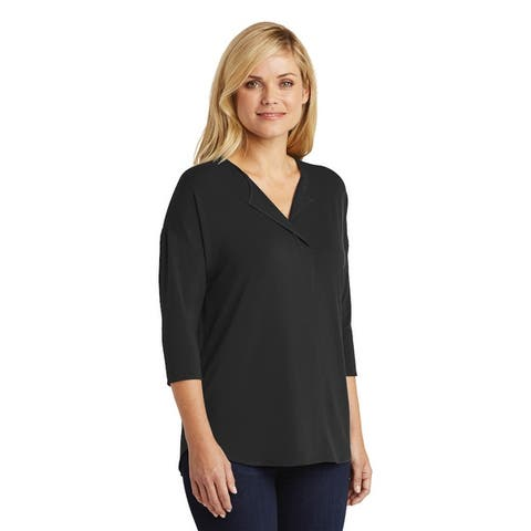 Port Authority Women's 3/4 Sleeve Split Neck Blouse