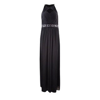 Jessica Howard Women's Shirred Chiffon Embellished Dress - 6