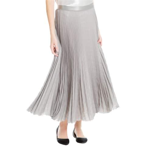 Max Studio London Womens Pleated A-Line Skirt
