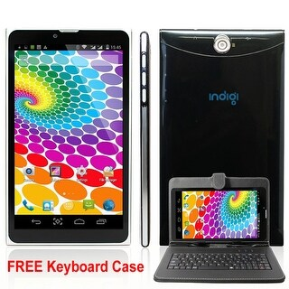 "Indigi® 7"" Android 4.4 KitKat 3G Factory Unlocked 2-in-1 DualSIM SmartPhone + TabletPC WiFi w/ KeyCase included"