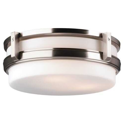 Forecast Lighting F611136 3 Light 14 Wide Flush Mount Ceiling Fixture From The 27th Street Collection