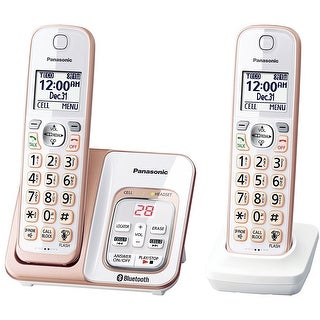 Panasonic KX-TGD562G Link2Cell Bluetooth Cordless Phone with Voice Assist and Answering Machine - 2 Handsets (Refurbished)