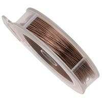 Artistic Wire, Copper Craft Wire 20 Gauge Thick, 15 Yard Spool, Antiqued Brass