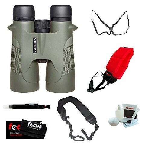 Vortex Optics Diamondback 12x50 Binoculars with Three Straps and Deluxe Accessory Bundle
